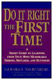 Do it Right the First Time Cover
